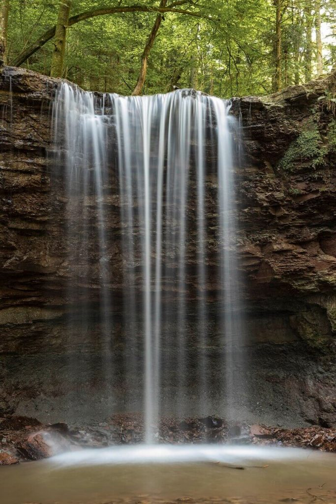 Fotolocation Wasserfälle im Hörschbachtal