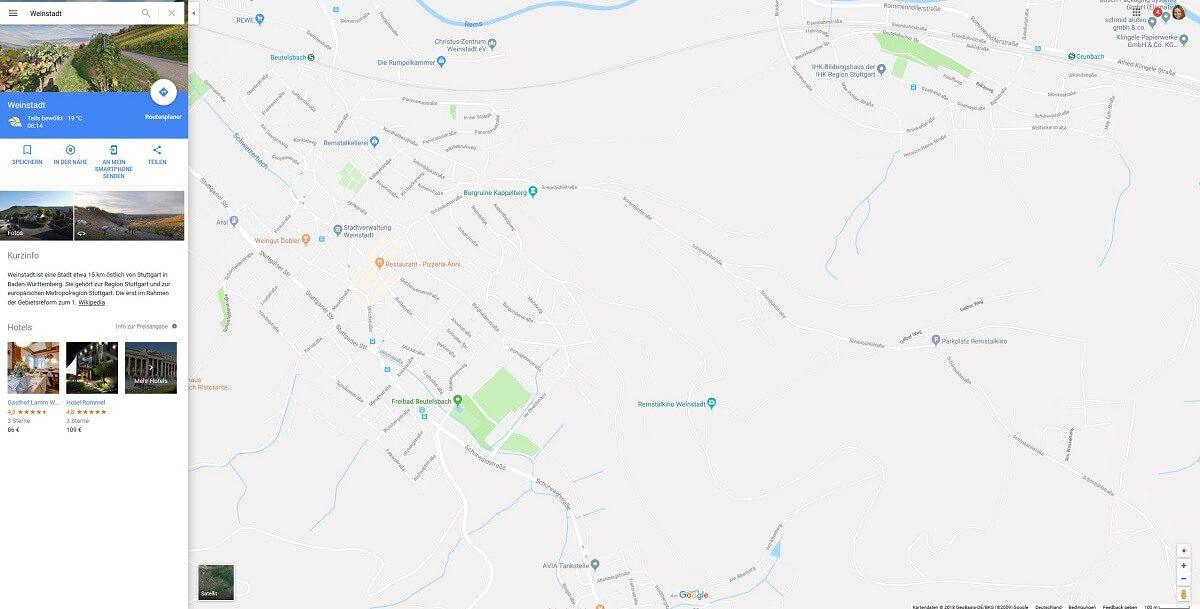 Fotolocations finden mit Google Maps