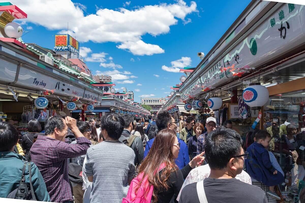 Nakamise Shopping Street Asakusa Tokyo Japan