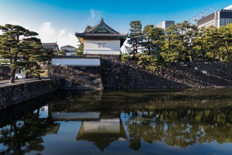 Kikyō-mon Tor am Kaiserpalast in Tokyo