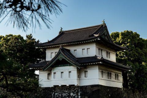 Turm am Kaiserpalast, Tokyo, Japan