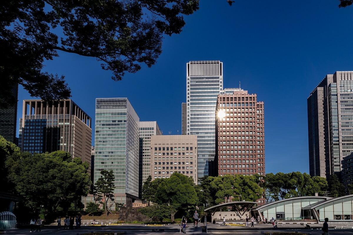 Wolkenkratzer in Tokyo
