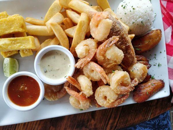 Abendessen im Red Fish Aruba