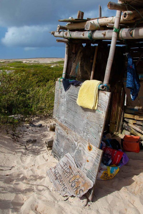 Hütte am Boca Grandi Aruba